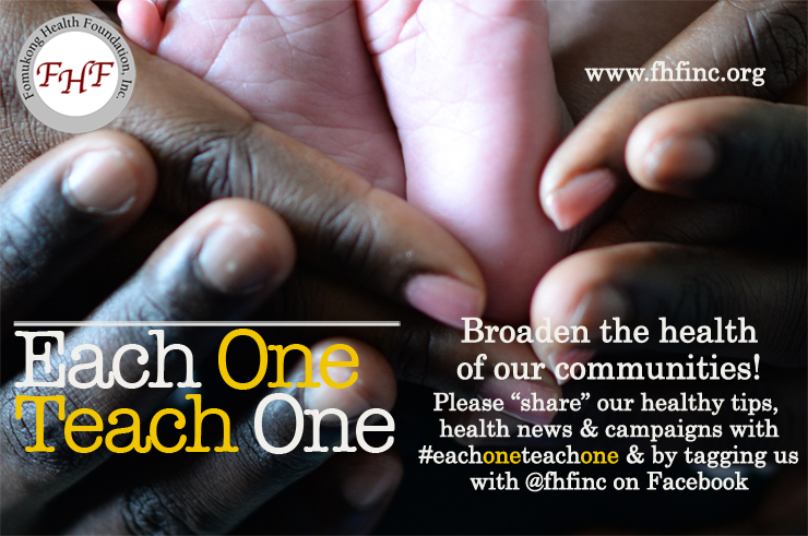 "FHF, Inc. ""Each One Teach One"" strives to curate and disseminate quality health education materials and information to underserved and underdeveloped countries."